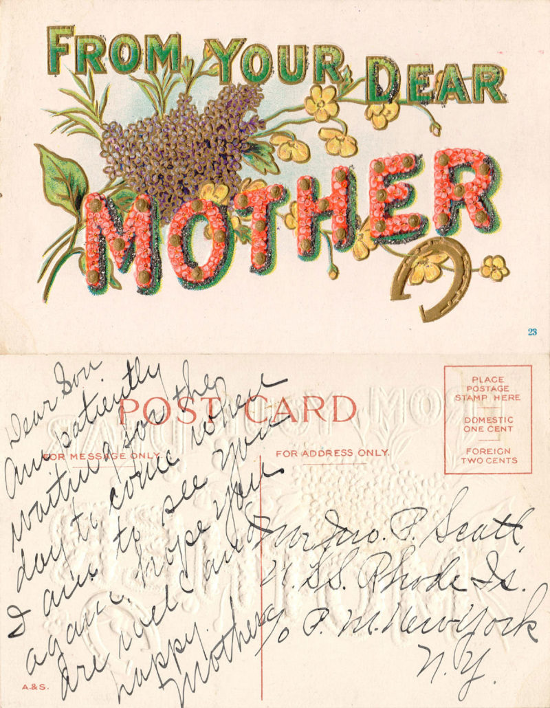 transcribed historical postcard document preservation