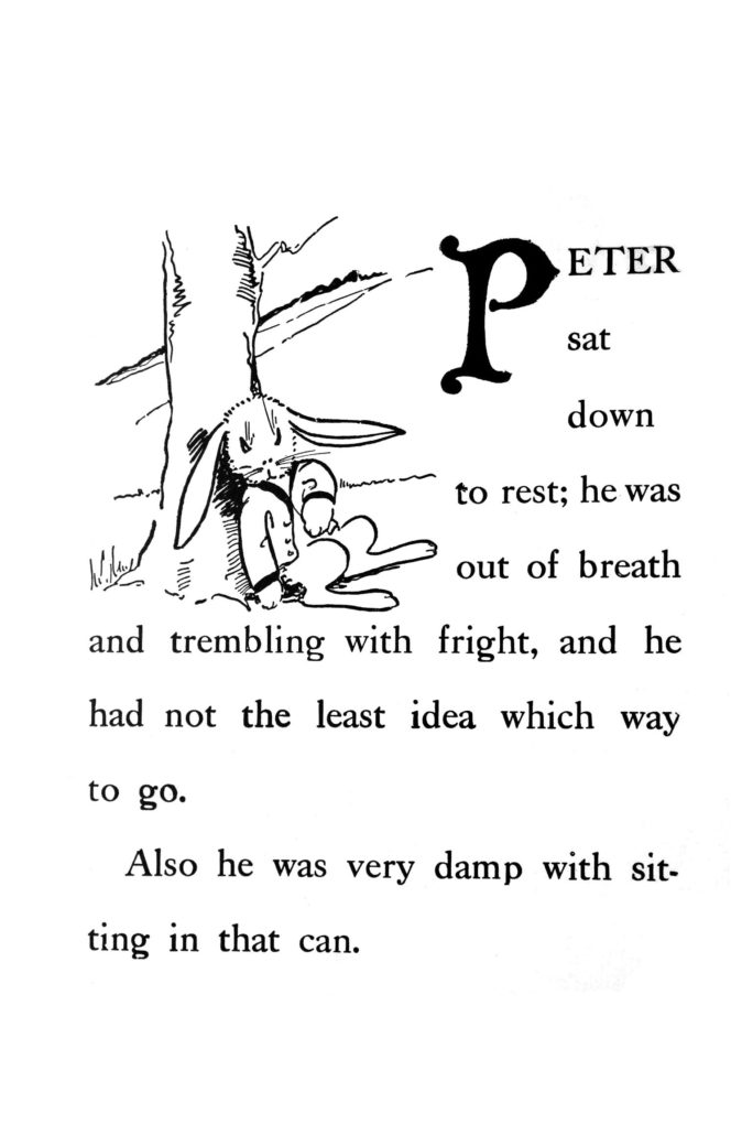 historical copy of Peter Rabbit digitally cleaned