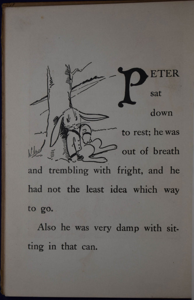 historical copy of Peter Rabbit