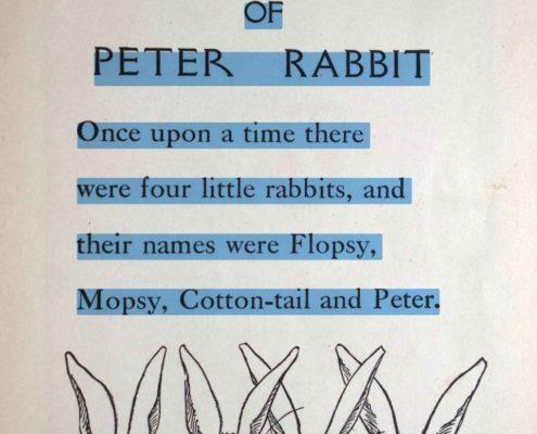 Peter Rabbit digital OCR