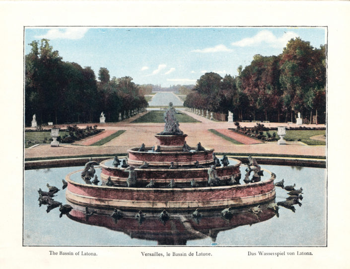 digital library image of versailles fountain