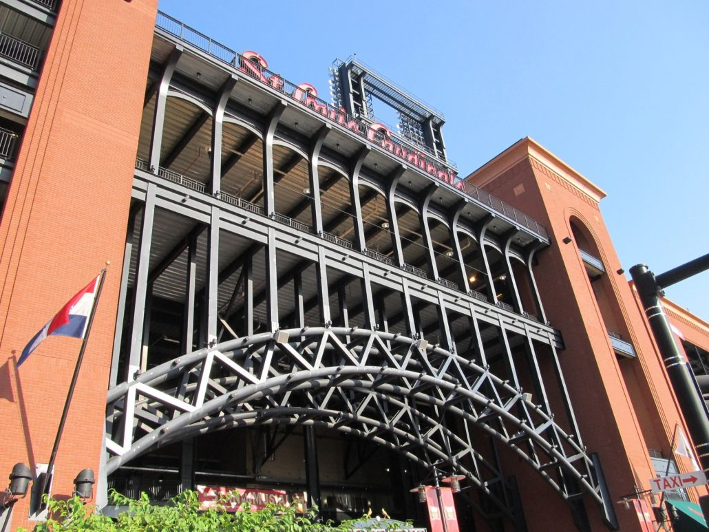 Entrance to Busch Stadium St. Louis
