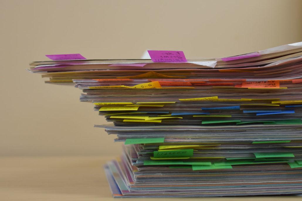 stack of pamphlets