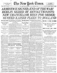page of the New York Times from 1918