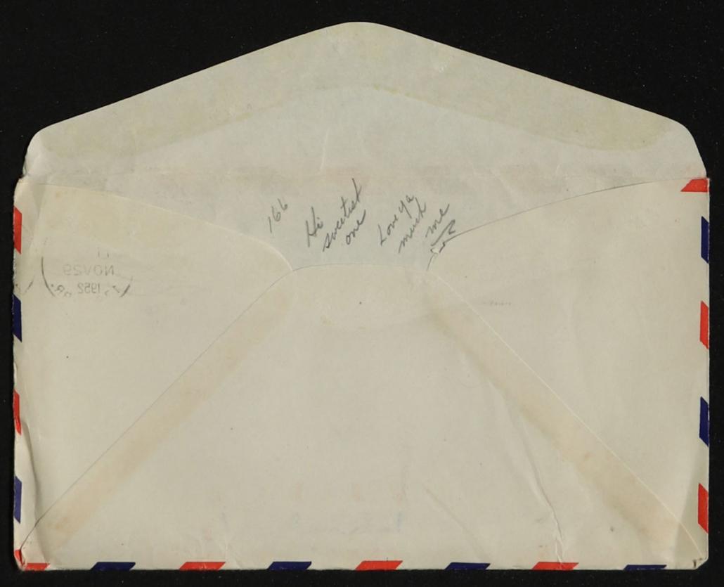 Digitization captured this hidden love note